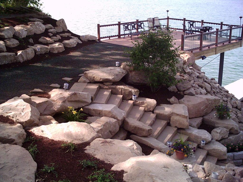 Deck w steps